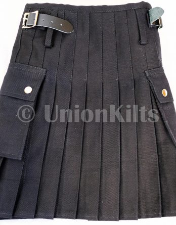 Kids Black Indi Denim Kilt